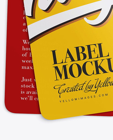 Two Glossy Labels Mockup