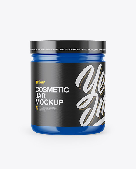 Download Glossy Cosmetic Jar PSD Mockup