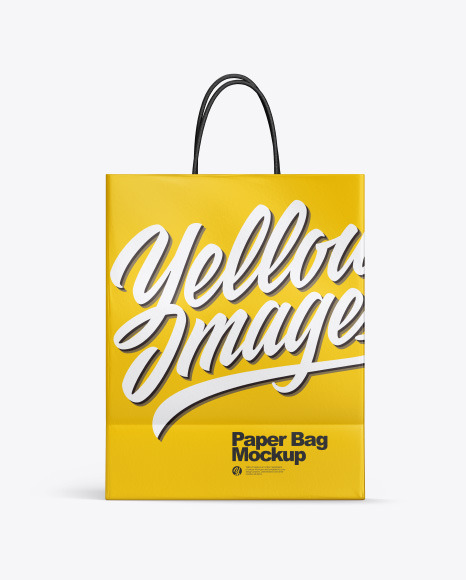 Download Matte Shopping Bag w Rope Handles PSD Mockup