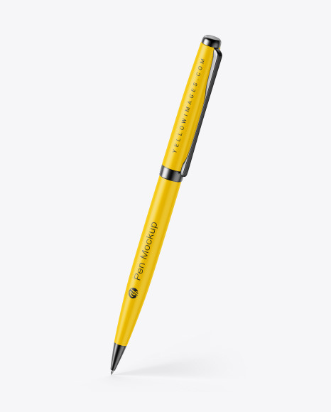 Download Matte Pen w Metallic Finish PSD Mockup