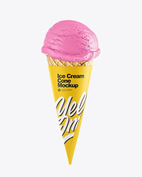 Download Ice Cream Cone PSD Mockup