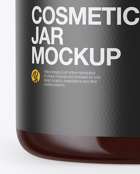 Amber Cosmetic Jar Mockup