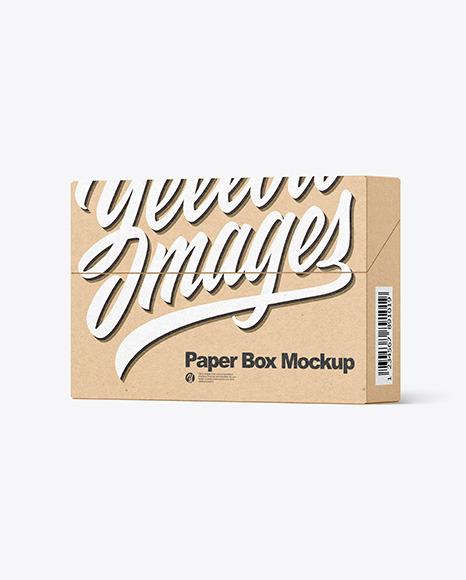 Download Kraft Paper Box PSD Mockup