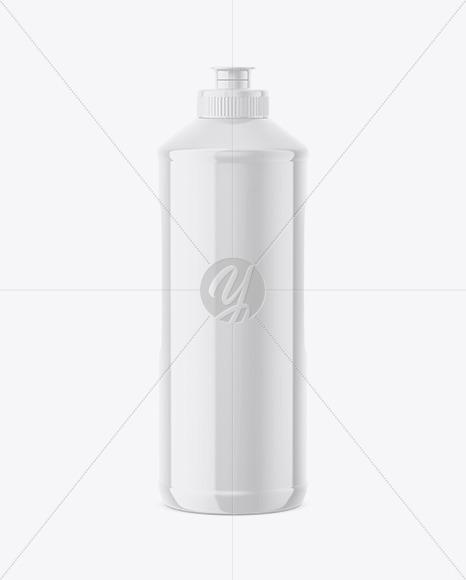 Glossy Detergent Bottle Mockup