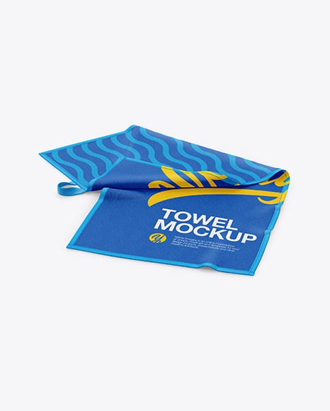 Download Folded Beach Towel PSD Mockup