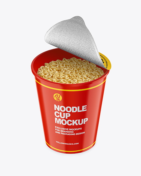 Download Glossy Noodle Cup PSD Mockup