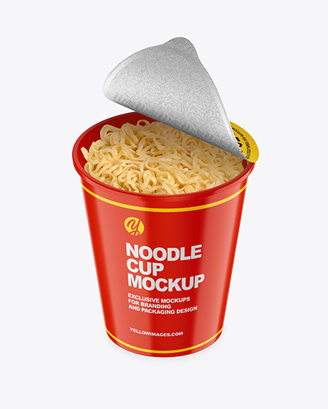 Download Glossy Cooked Noodle Cup PSD Mockup