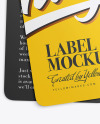 Two Matte Labels Mockup