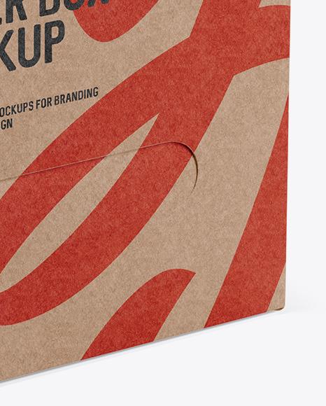 Kraft Paper Box - Half Side View