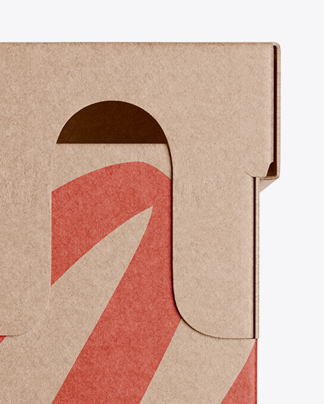 Kraft Paper Box - Front View