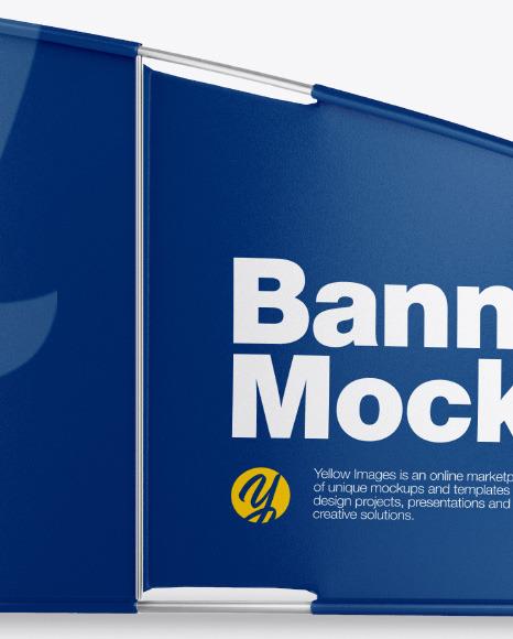 Glossy Banner Mockup
