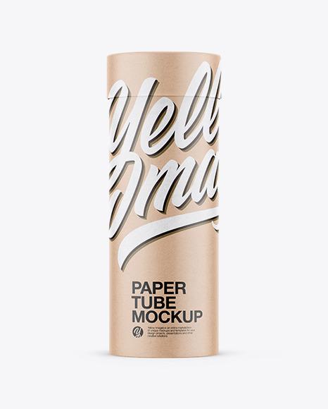 Download Kraft Paper Tube PSD Mockup