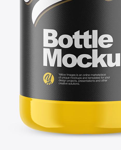 Download 1l Glossy Plastic Bottle Mockup In Bottle Mockups On Yellow Images Object Mockups PSD Mockup Templates