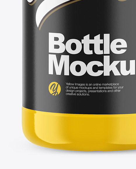 Download 1l Glossy Plastic Bottle Mockup In Bottle Mockups On Yellow Images Object Mockups PSD Mockup Templates