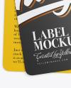 Two Matte Labels Mockup