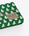 Textured Gift Box w/ Label Mockup