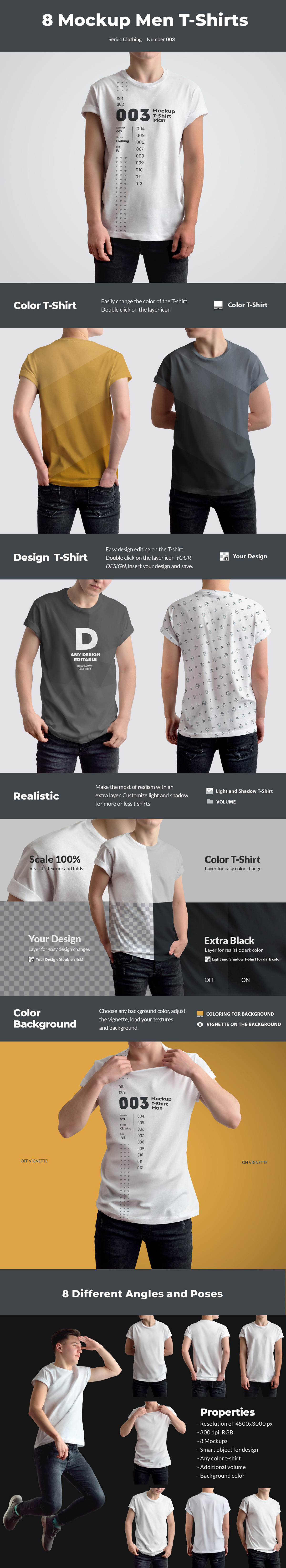 Download 8 Mockups T Shirts On The Man In Apparel Mockups On Yellow Images Creative Store Yellowimages Mockups