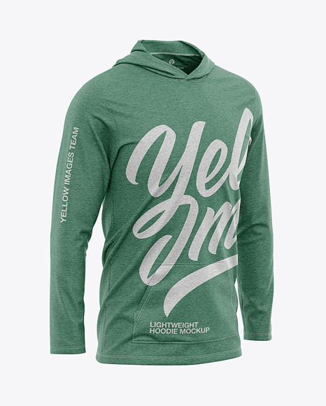 Men's Heather Lightweight Hoodie T-Shirt