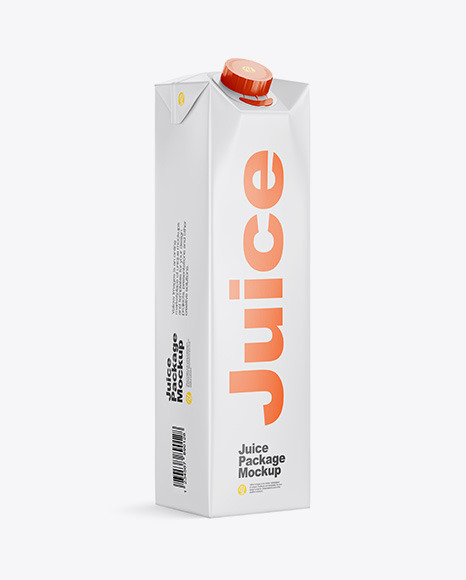 Download 1L Matte Juice Package Halfside View PSD Mockup