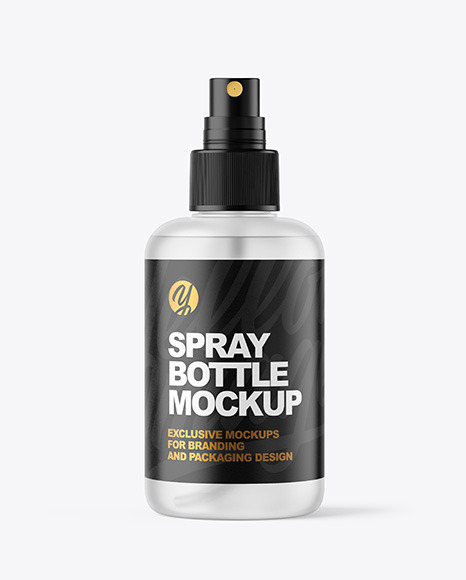 Download Frosted Spray Bottle PSD Mockup