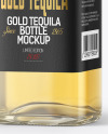 Golden Tequila Bottle with Box Mockup