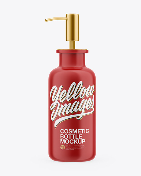 Download Matte Cosmetic Bottle PSD Mockup