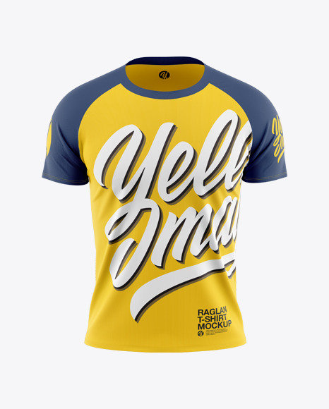 Download Melange Mens Raglan Long Sleeve T Shirt Mockup Yellowimages