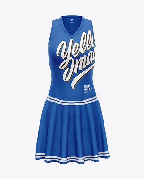 Download Womens Tennis Dress PSD Mockup