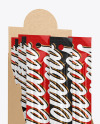Kraft Paper Box with Snack Sticks Mockup