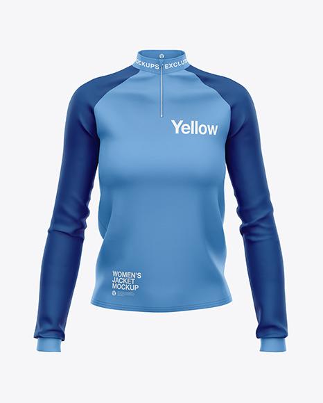 Download Womens Long Sleeve Jacket PSD Mockup
