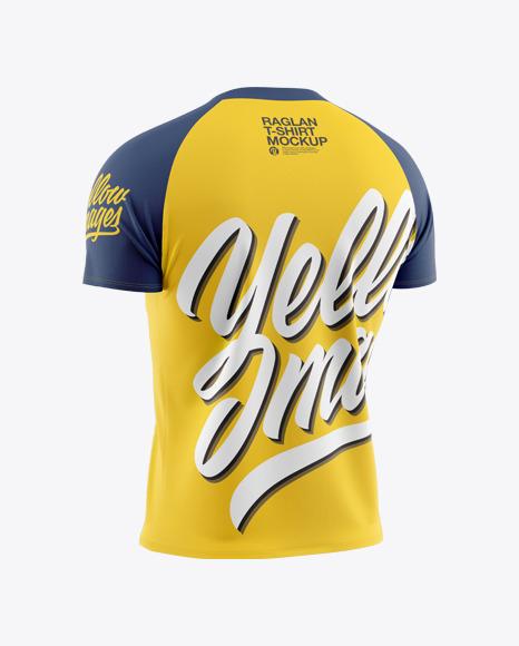 Men's Raglan T-Shirt Mockup