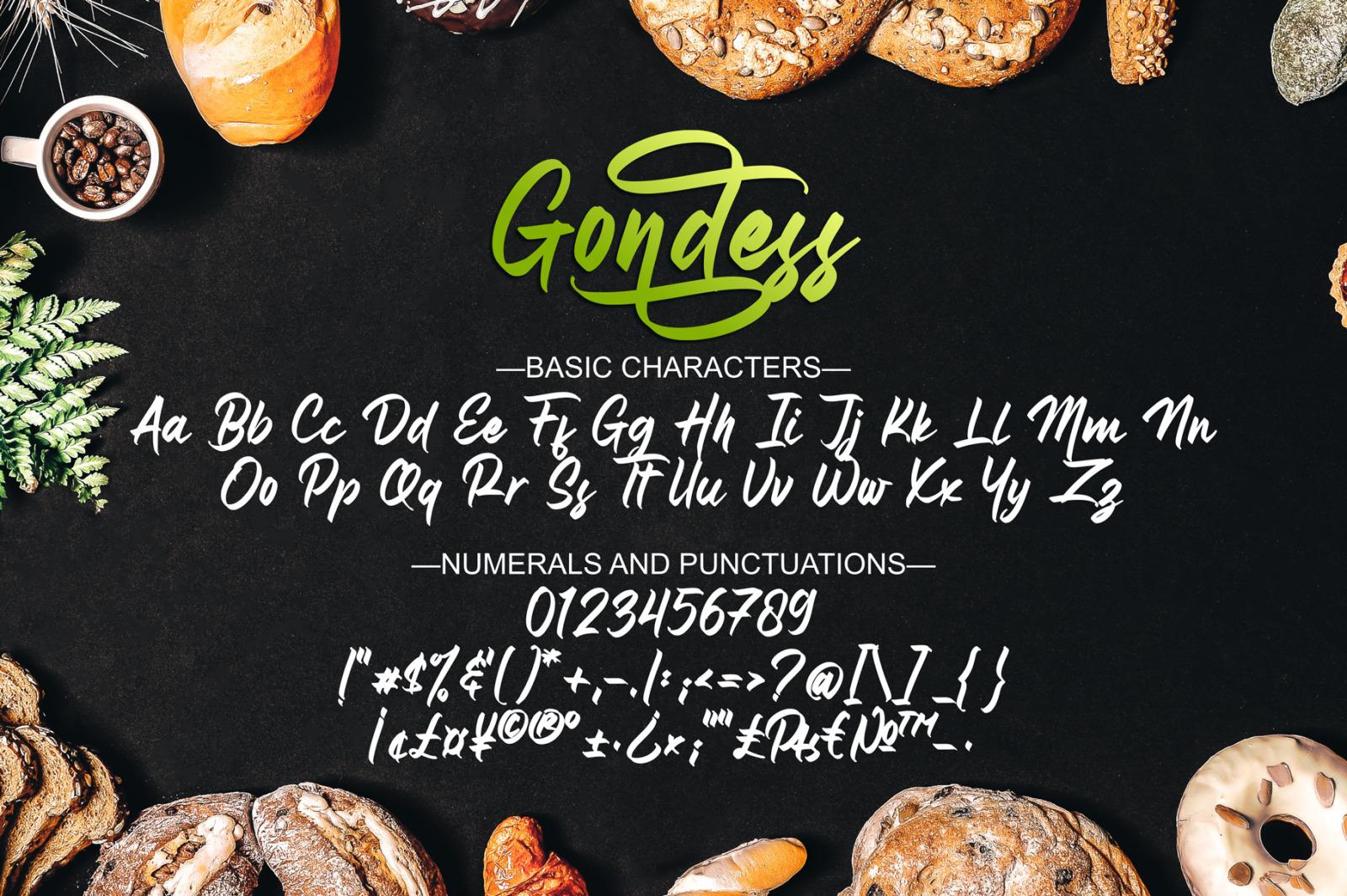 Gondess - Handwritten Script Font