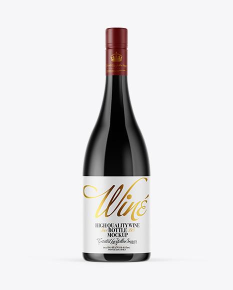 Download Dark Glass Wine Bottle PSD Mockup