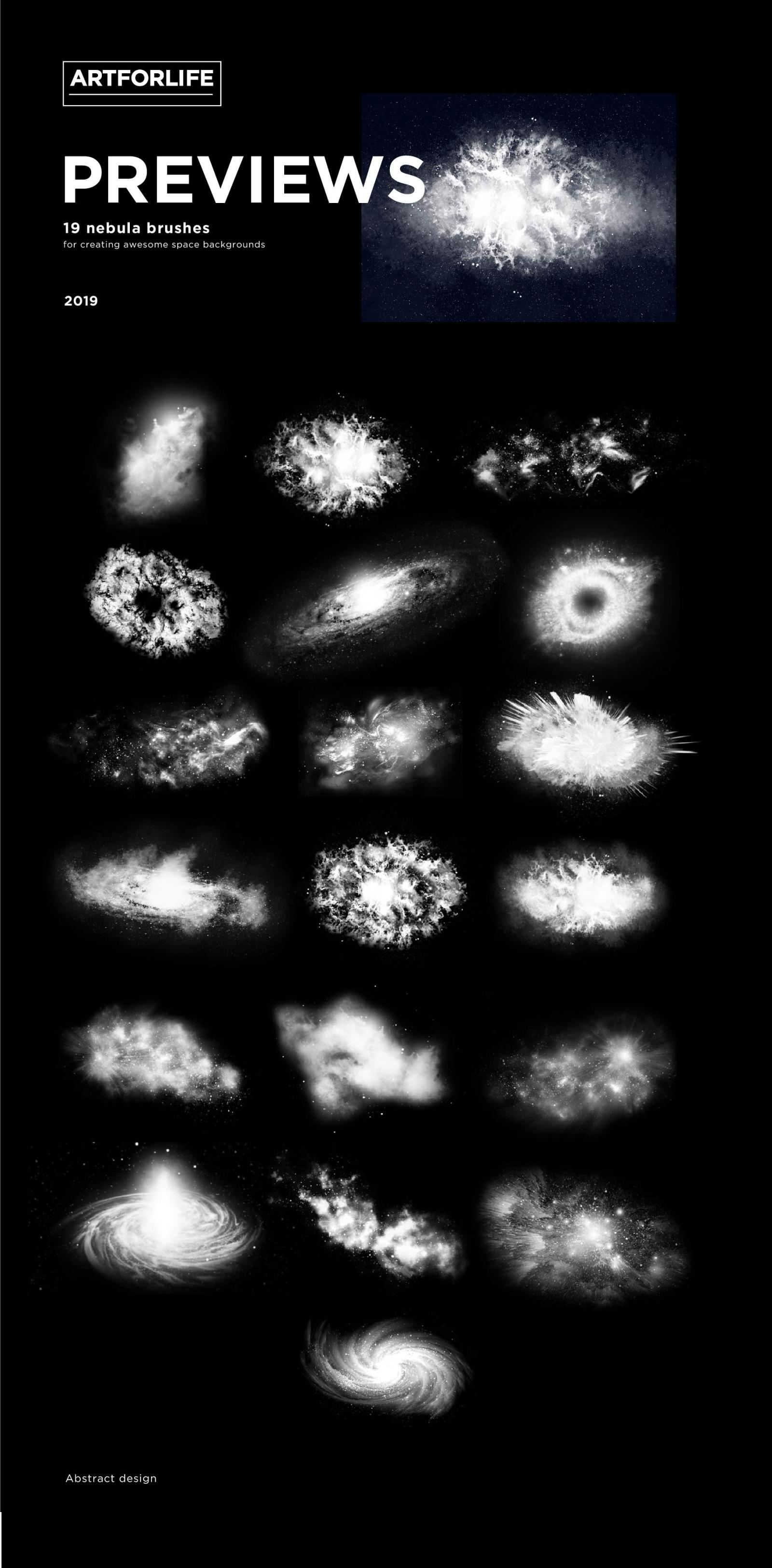 Nebula Photoshop Brushes