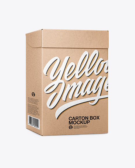 Download Carton Kraft Box PSD Mockup