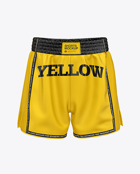Download Shorts Front View PSD Mockup