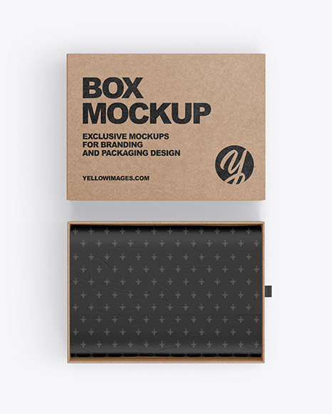 Download Kraft Box PSD Mockup