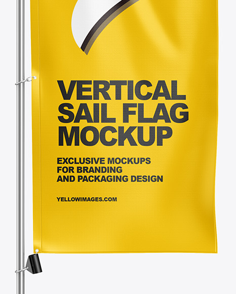 Vertical Sail Flag Mockup