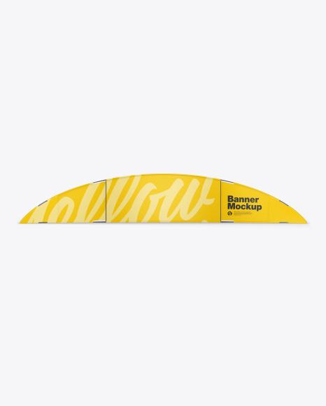 Download Matte Banner PSD Mockup