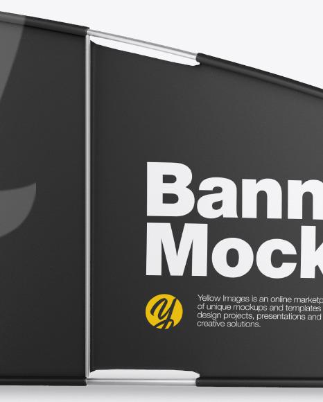 Matte Banner Mockup