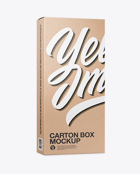 Carton Kraft Box - Half Side View