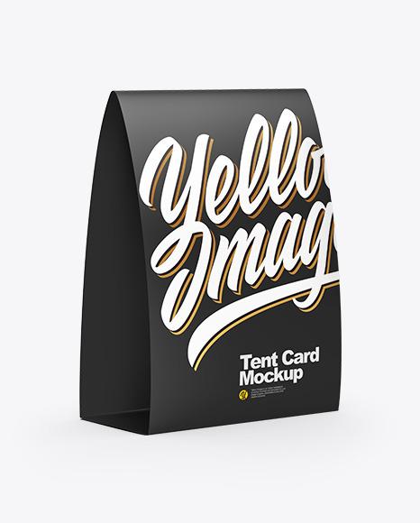 Download Tent Card Mockup - Half Side View Stationery Mockups