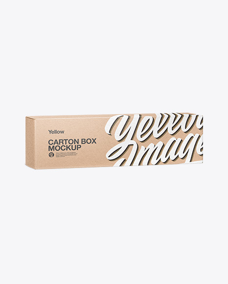 Download Carton Kraft Box PSD Mockup