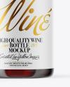 Clear Glass Red Wine Bottle Mockup