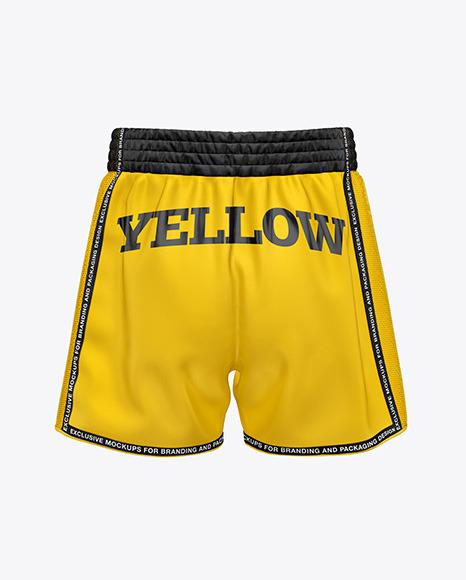 Download Shorts Back View PSD Mockup