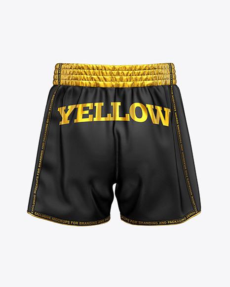 Shorts Mockup - Back View