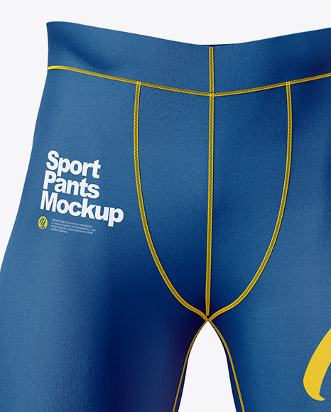 Compression Trousers Mockup – Front View