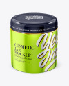 Metallic Cosmetic Jar Mockup