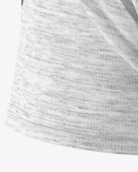 Melange Men's Raglan T-Shirt Mockup