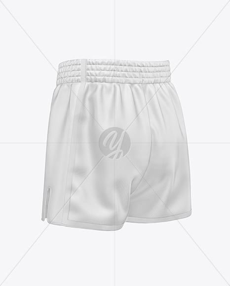 Shorts Mockup - Back Half Side View